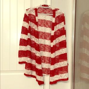 Red and white striped Carnigan